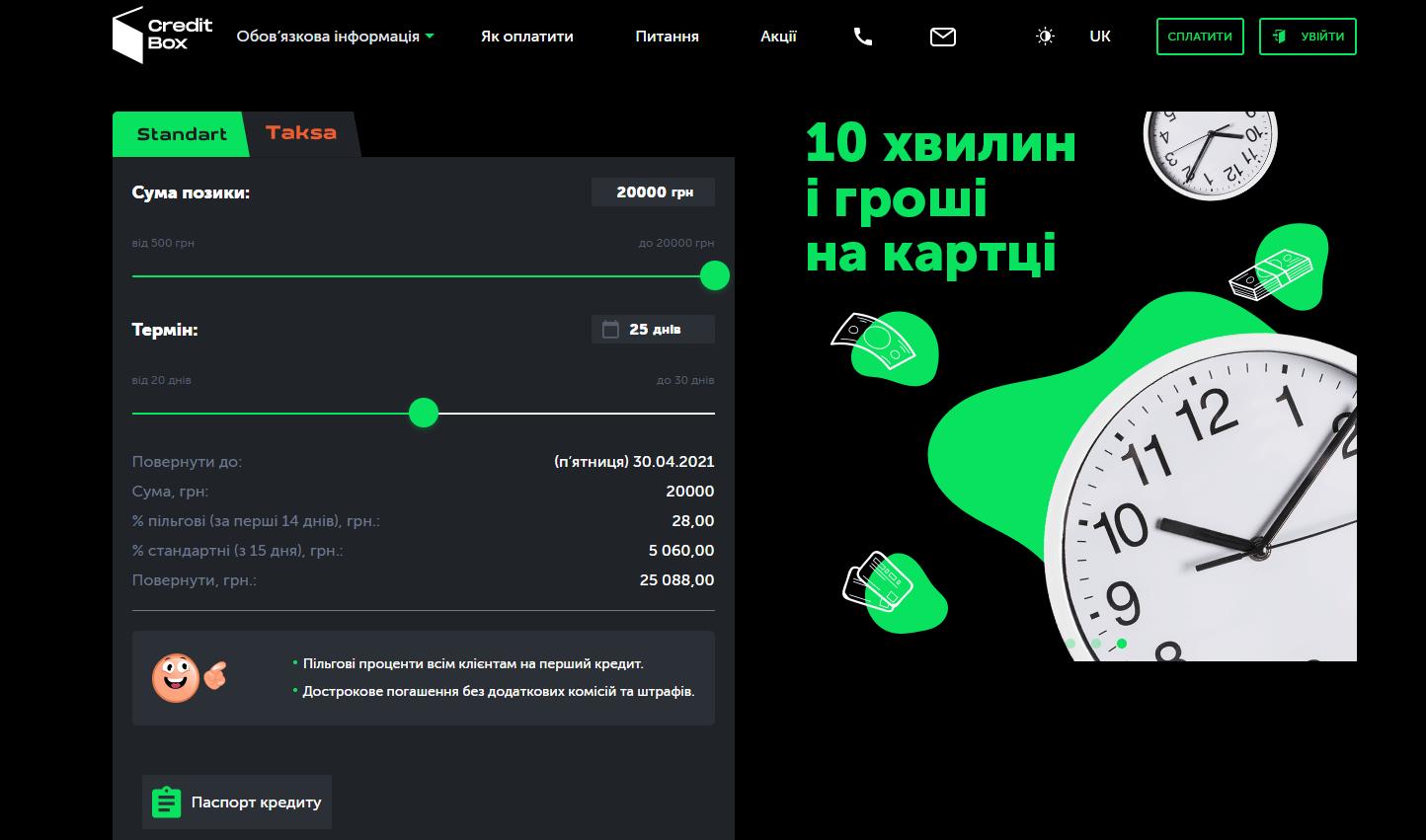 онлайн кредит от CreditBox Украина